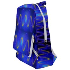 Light Shining Blue Frequency Sine Travelers  Backpack