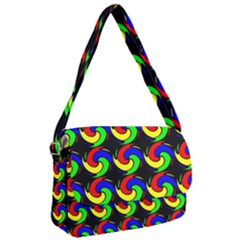 Swirls Pattern Seamless Wallpaper Courier Bag