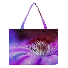 Clematis Structure Close Up Blossom Medium Tote Bag