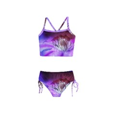 Clematis Structure Close Up Blossom Girls  Tankini Swimsuit