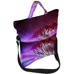 Clematis Structure Close Up Blossom Fold Over Handle Tote Bag