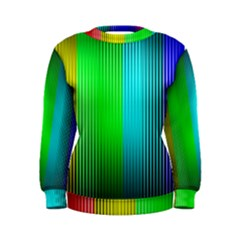 Lines Rainbow Colors Spectrum Color Women s Sweatshirt