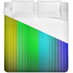Lines Rainbow Colors Spectrum Color Duvet Cover (king Size) by Pakrebo