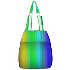 Lines Rainbow Colors Spectrum Color Center Zip Backpack