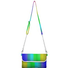 Lines Rainbow Colors Spectrum Color Mini Crossbody Handbag