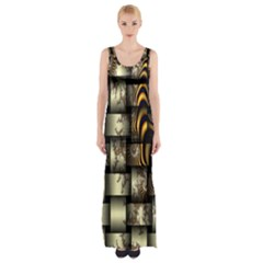 Graphics Abstraction The Illusion Maxi Thigh Split Dress