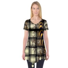 Graphics Abstraction The Illusion Short Sleeve Tunic