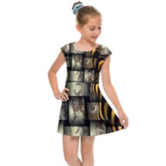 Graphics Abstraction The Illusion Kids  Cap Sleeve Dress