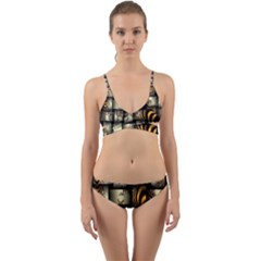 Graphics Abstraction The Illusion Wrap Around Bikini Set