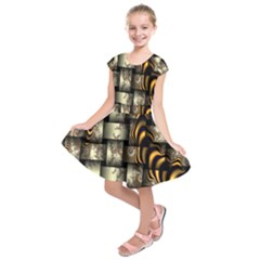 Graphics Abstraction The Illusion Kids  Short Sleeve Dress