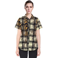 Graphics Abstraction The Illusion Women s Short Sleeve Shirt