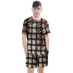 Graphics Abstraction The Illusion Men s Mesh Tee And Shorts Set