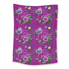 Flower Background Wallpaper Medium Tapestry