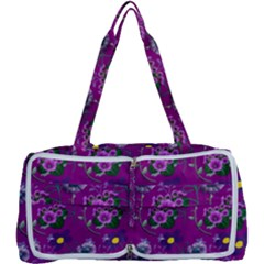 Flower Background Wallpaper Multi Function Bag