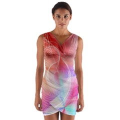 Background Nebulous Fog Rings Wrap Front Bodycon Dress