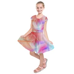 Background Nebulous Fog Rings Kids  Short Sleeve Dress
