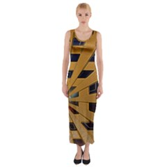 Graphics Assembly Transformation Fitted Maxi Dress