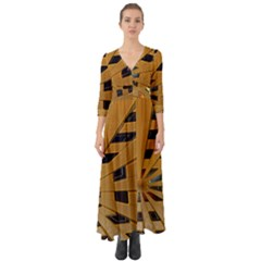 Graphics Assembly Transformation Button Up Boho Maxi Dress