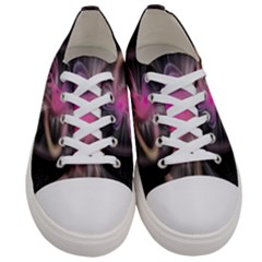 Stress Fractal Round Ball Light Women s Low Top Canvas Sneakers