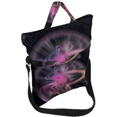 Stress Fractal Round Ball Light Fold Over Handle Tote Bag