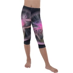 Stress Fractal Round Ball Light Kids  Lightweight Velour Capri Leggings