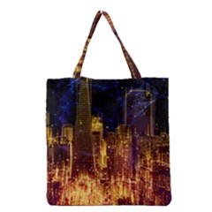 City View San Francisco Usa Grocery Tote Bag