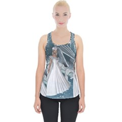 Wonderful Girl With Ice Dragon Piece Up Tank Top by FantasyWorld7