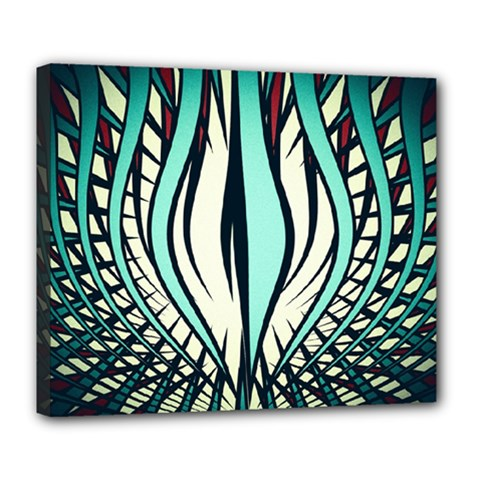 Retro Illusion Canvas Night Deluxe Canvas 24  X 20  (stretched)