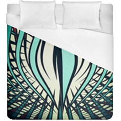 Retro Illusion Canvas Night Duvet Cover (king Size)