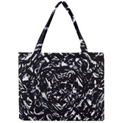 Dark Abstract Print Mini Tote Bag by dflcprintsclothing