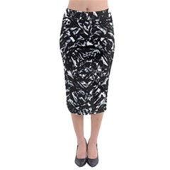Dark Abstract Print Midi Pencil Skirt by dflcprintsclothing