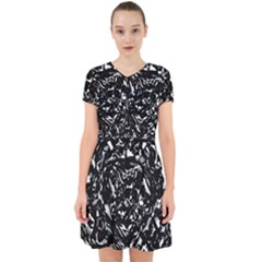 Dark Abstract Print Adorable In Chiffon Dress