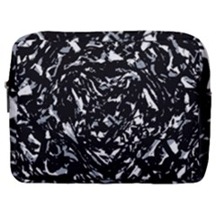 Dark Abstract Print Make Up Pouch (large)
