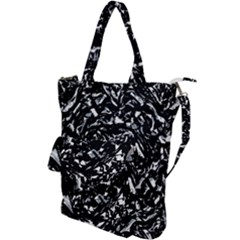 Dark Abstract Print Shoulder Tote Bag by dflcprintsclothing