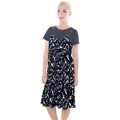 Dark Abstract Print Camis Fishtail Dress by dflcprintsclothing