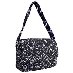 Dark Abstract Print Courier Bag