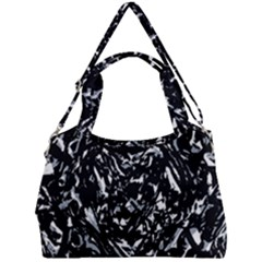 Dark Abstract Print Double Compartment Shoulder Bag