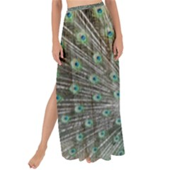 Peacock Bird Animal Feather Maxi Chiffon Tie Up Sarong