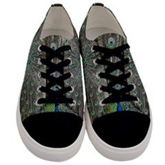 Peacock Bird Animal Feather Men s Low Top Canvas Sneakers