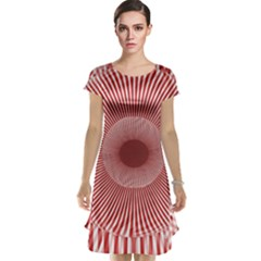 Fractals Abstract Pattern Flower Cap Sleeve Nightdress