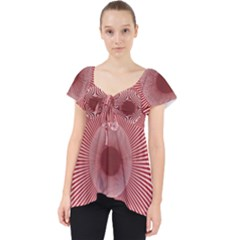 Fractals Abstract Pattern Flower Lace Front Dolly Top