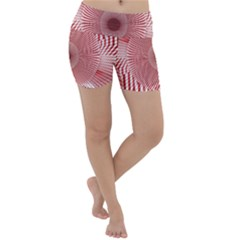 Fractals Abstract Pattern Flower Lightweight Velour Yoga Shorts by Pakrebo