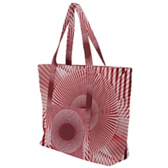 Fractals Abstract Pattern Flower Zip Up Canvas Bag
