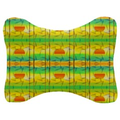 Birds Beach Sun Abstract Pattern Velour Seat Head Rest Cushion