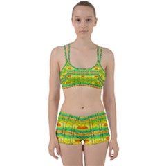 Birds Beach Sun Abstract Pattern Perfect Fit Gym Set
