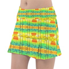 Birds Beach Sun Abstract Pattern Tennis Skirt