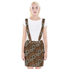 Abstract Background Brown Swirls Braces Suspender Skirt
