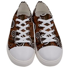 Abstract Background Brown Swirls Women s Low Top Canvas Sneakers