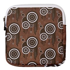 Abstract Background Brown Swirls Mini Square Pouch