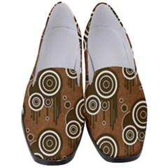 Abstract Background Brown Swirls Women s Classic Loafer Heels